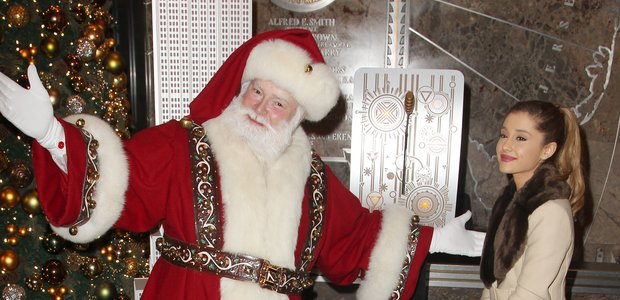 Ariana Grande & Santa 2013