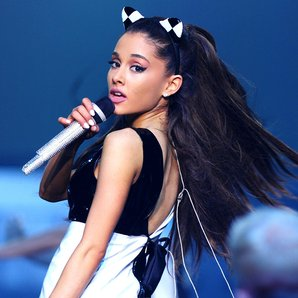 Ariana performs on her honeymoon tour