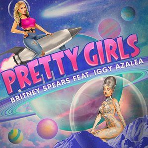 Britney Spears Iggy Azalea Pretty Girls Single Art
